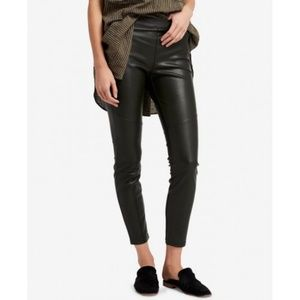 Free People Faux Leather Leggings Moss size 24